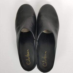 Cole Haan Black Nike Air Mules Clogs Slip On 10M